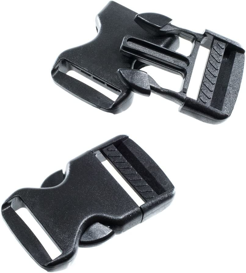 Craft County Side Quick Release Plastic Black Buckles 30 Pack, 3//8 Inch