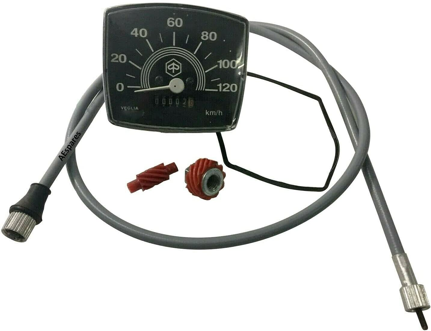AEspares Speedometer Max 72% OFF 120 Excellent Km H With and Speci 50 Cable Worm Vespa