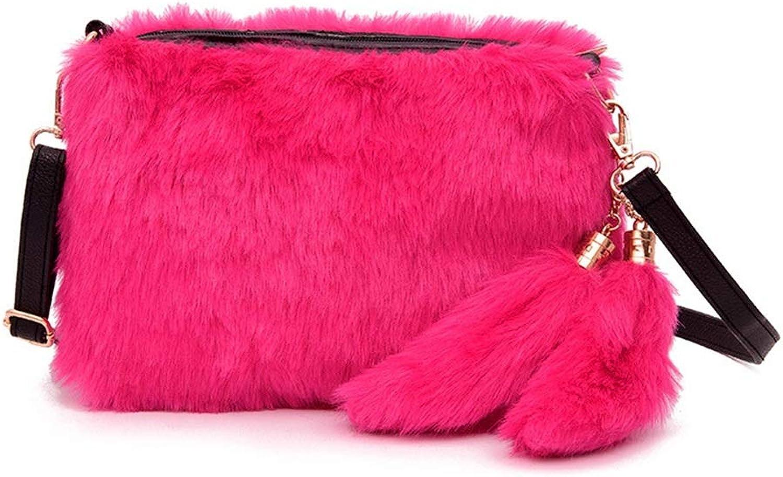 Sturdy Women's Faux Purse Handbag Wide Strap Crossbody Handbag Small Handbag Purse for Party Shopping Travel Daily Daypack Large Capacity (color   Red)