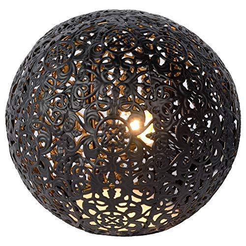 Shabby Chic Landhaus vintage Tischlampe, Tisch-leuchte & Nachttischlampe G9 Wohnzimmer Schlafzimmer Schwarz Metall