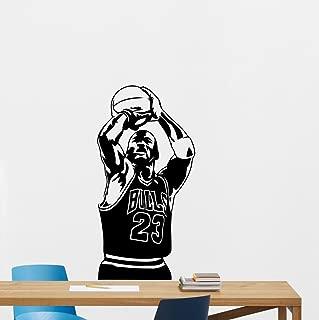 Michael Jordan Poster Wall Decal Sport 23 Sign Air Jordan Basketball Poster Stencil Gym Wall Vinyl Sticker Kids Teen Boy Room Nursery Bedroom Wall Art Decor Mural 157nnn