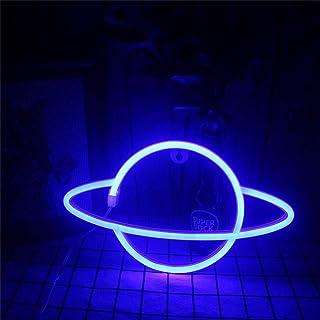 Nordstylee Panneau néon planète, veilleuse LED pour enfant, cadeau d'anniversaire, Noël, décoration murale, cadeau de fête...