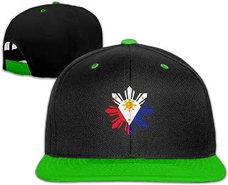 Philippine Sun Flag Baseball Caps Unisex Solid Flat Bill Hip Hop Adjustable Snapback Hats Sunhat