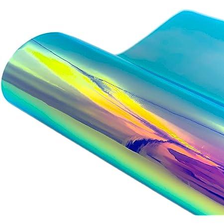 TSLBW Vinyle Adhesif Holographique 30 * 150cm holographique Auto-adhésif Vynile Decoratif Opal Arc-en-Ciel pour l'Artisanat, Panneaux, Scrapbooking, Silhouette Cameo, Collages et Décalcomanies