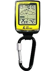 [ラドウェザー]アウトドア用品 高度 気圧 温度 天気 コンパス カラビナ スポーツ時計 lad036