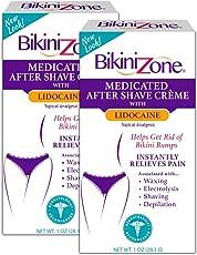 Bikini Zone Medicated Creme for Bikini Area 1 oz (Pack of 2)