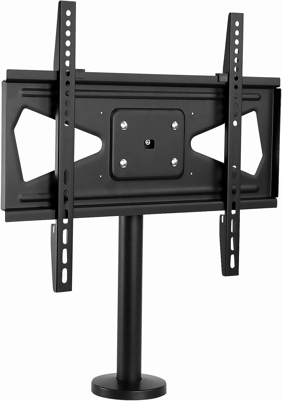 Mount-It  Bolt Down TV Stand   Heavy Duty Table Top TV Stand for Screens 32  - 55    Desktop TV VESA Mount with Swivel   Steel, Black