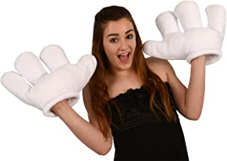 Kangaroo Jumbo Cartoon Hands, White Gloves