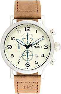 AIMANT Rotterdam Cronograph Watches | 44 MM Men's Analog Watch | Leather