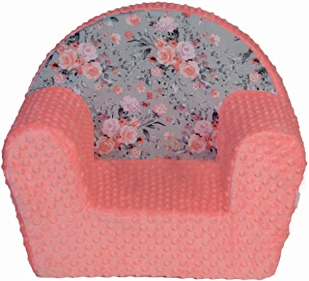 MuseHouse Childrens Chair Armchair Children Room Soft Minky Sofa Seat Stool Kids Toddlers Childs Sofa seat  FLOWERS-MHF133
