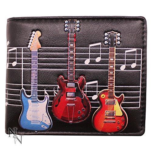 Nemesis nu elektrische gitaren portemonnee 10cm Zwart, PU, One Size