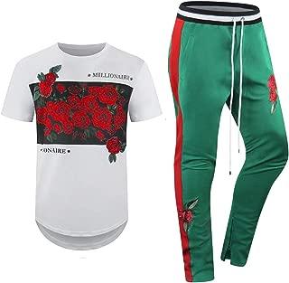 New 2pc Mens Short Set Printed Tracksuits Track Pants