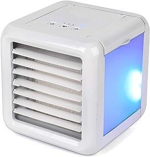 HIZLJJ Aire Acondicionado Enfriador de aire portátil, Mini acondicionador de aire más fresco y humidificador, purificador Pequeño refrigeradores evaporativos, 3 velocidades del ventilador, Personal mó