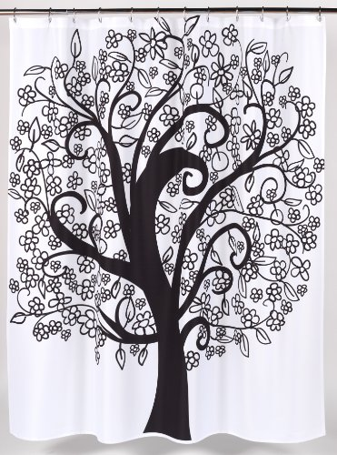 Carnation Home Fashions Tree of Life Fabric Shower Curtain