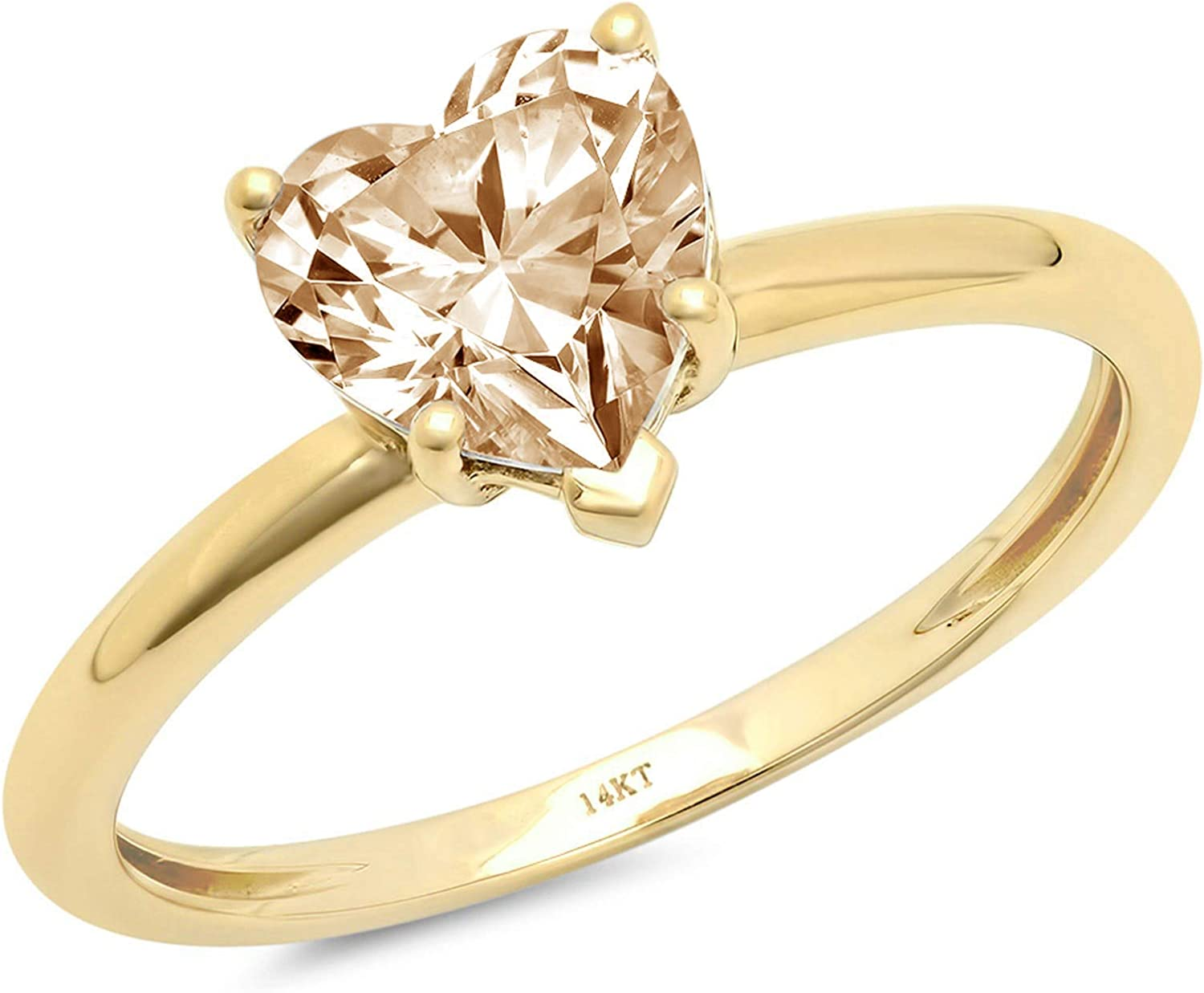 1.9ct Super beauty product restock quality top! Same day shipping Brilliant Heart Cut Solitaire Genuine Natural Designer Mor