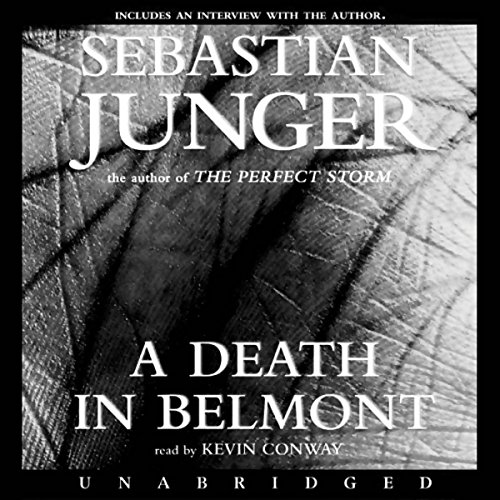 A Death in Belmont audiobook cover art
