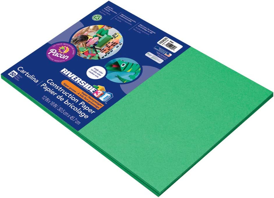 Riverside 3D Construction Paper Max 60% OFF Green 50 x Sheets 67% OFF of fixed price 18