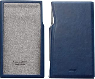 for Astell&Kern A&Futura SE200 , Hand Crafted Miter PU Leather Case Cover AK SE200 Case (Navy)