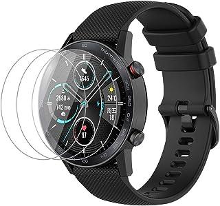 NOKOER Rem för Honor Magic Watch 2 46 mm, [2-i-1] mjuk silikonklockrem + 3-pack TPU skärmskydd, rembyte [slitstark] [anda...