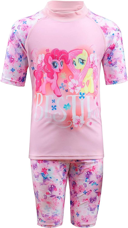 Julysand Toddler Girls Rash Guard Max 78% OFF Sets Pony My Little Seasonal Wrap Introduction Pink Swims