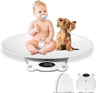ترازوی حیوان خانگی LFGKeng ، ترازوی کودک ، ترازوی قابل حمل نوزاد با سینی قابل جدا شدن (حداکثر: 25.5 اینچ) ، اندازه گیری دقیق وزن (حداکثر: 260 پوند) ، مناسب برای کودکان نوپا/نوزادان/توله سگ/گربه/سگ/بزرگسالان