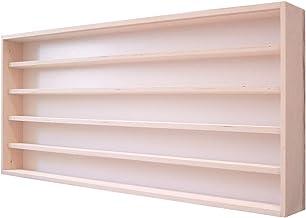 V110.5A - Vitrine murale 110 x 49 x 8,5 cm meuble rangement étagère armoire placard bois nature collection miniature moto ...