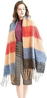 Womens Scarfs Scarves Fall Winter Women Tartan Scarf - Long Scarves Plaid Warm Wraps British Style for Ladies Spinning Tassel Shawl