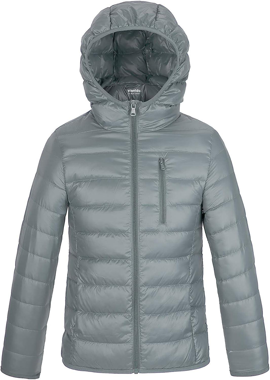 Wantdo Boy's Warm Winter Coat Ultra Lightweight Packable Down Jacket Hooded Outwear
