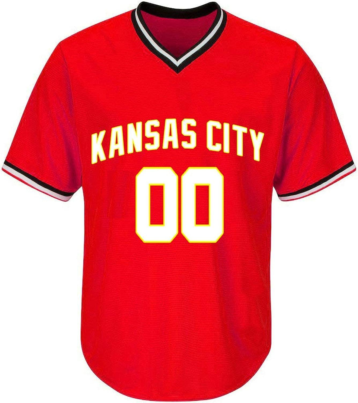Kansas City Red Baseball Jersey Stitched