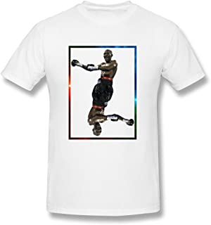 DASY Men`s O Neck Terence Crawford Shirt White