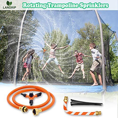 Landrip Trampolin Sprinkler für Kinder, Trampolin Wasser Sprinkler, Wasserpark Spaß Sommer Outdoor Wasserspiel Trampolin Zubehör