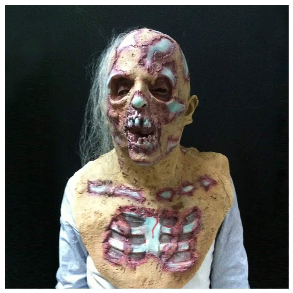 Domeilleur Halloween Prop Walking Dead Máscara de látex Cabeza ...