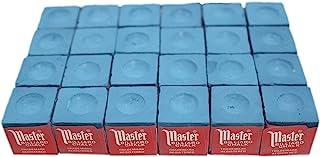 Masters Blue Billiard and Snooker Chalk - 2 dozen/24 Pieces