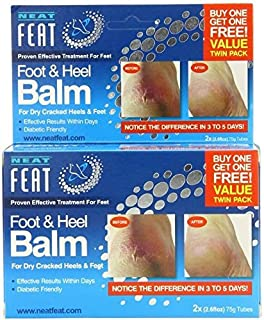 Neat Feat Foot and Heel Balm Twin Pack, 150 Gram, 5.3 Ounce by Neat Feet