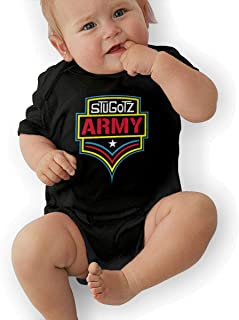 Unisex Baby Stugotz Army Jumpsuit Cotton Romper Short Sleeve Bodysuit One-Piece Suit