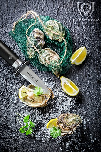 DALSTRONG Oyster Shucking Knife - 2.75' Professional Clam and Shellfish Tool - Gladiator Series - German HC Steel - Pakkawood - Included Guard