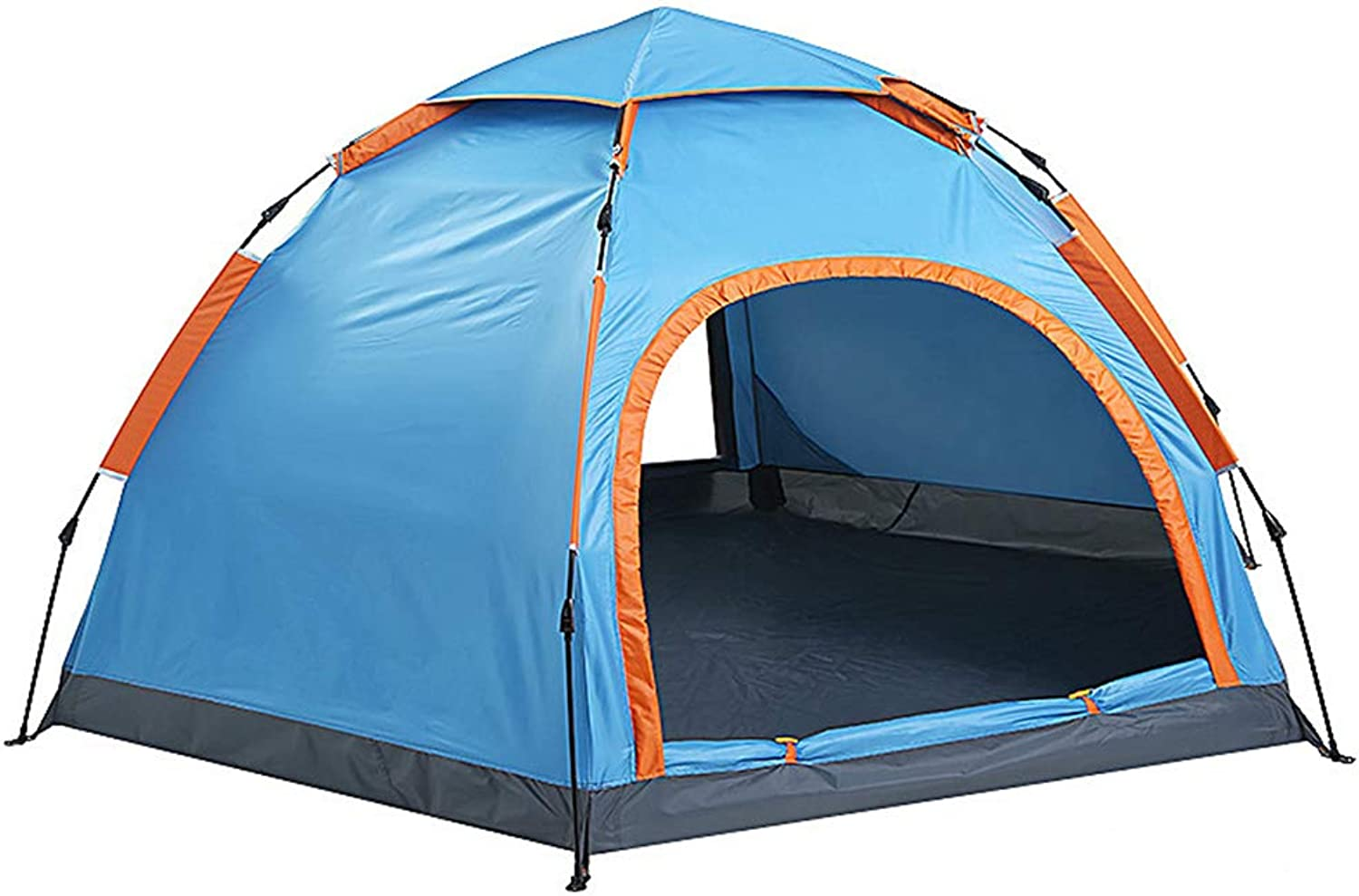 Outdoor Double Door Dome Tent, Easy to use Can Live 34 People Ventilated Waterproof Durable Suitable for Park Beaches, bluee