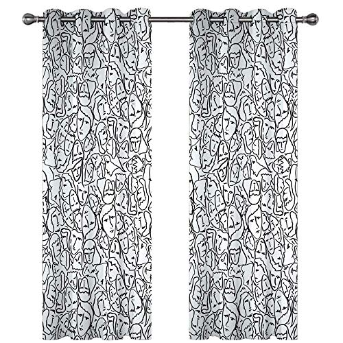Michance 3D Digital Printing Curtain Effective Blackout Curtain Suitable For Balconies, Shopping Malls, Bedroom Curtains 2 Pieces Individual Style