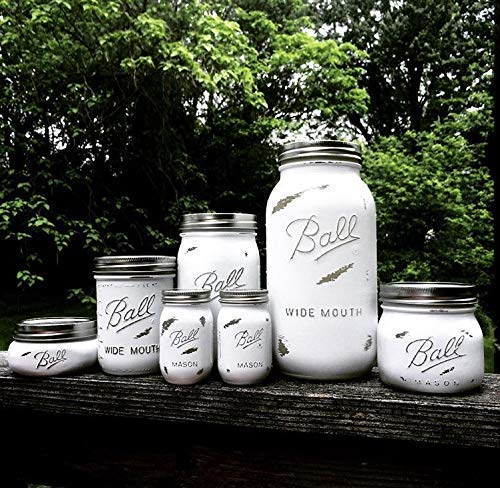 6 Piece Rustic White Farmhouse 中古 Mason Kitchen Canister 1着でも送料無料 Jar Style