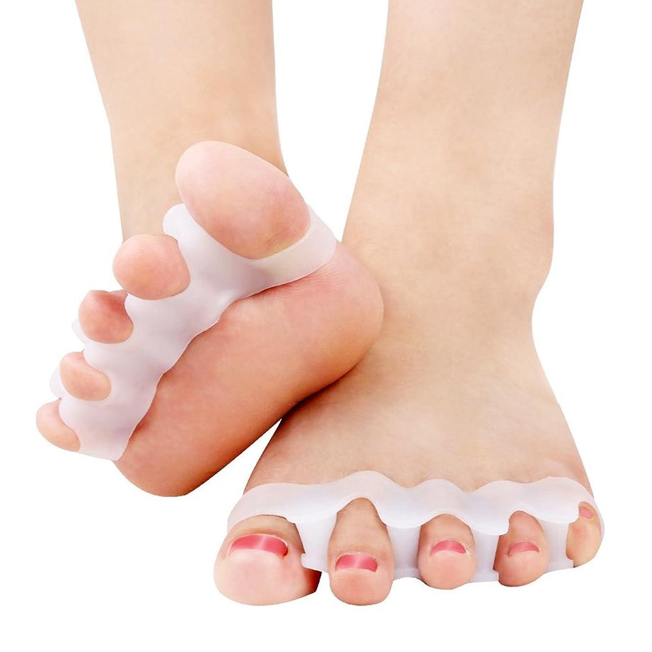 混乱させる致命的監査CandyBox 女子力UP フットネイル ペディキュア 足指全開 自宅で簡単 仕上がり奇麗 柔らかシリコン フリーサイズ