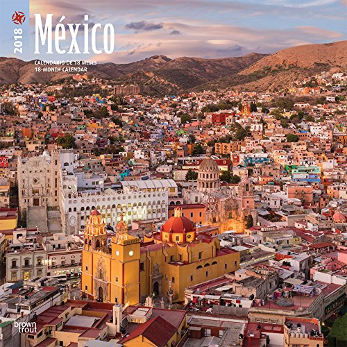México 2018 12 x 12 Inch Monthly Square Wall Calendar
