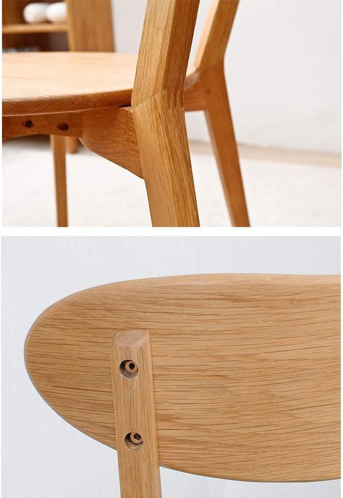 WDX- Chaise de Salle, Chaise de Bureau Simple, créative Dossier, Chaise Loisirs, Maison Adulte Chaise de Salle Confortable (Color : D) A