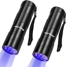 UV Zaklamp 12 LED 395nm, Morpilot Ultraviolet Zwart Licht Zaklamp 2 Pack voor het Detecteren van Fluorescerende Tracers, U...