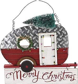 KKC Wall Decor Camper Metal Rv Frame Merry Christmas Sign Vintage