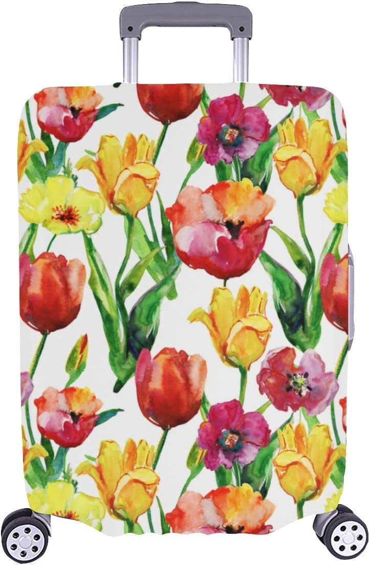San Antonio Mall Suitcase Travel Chicago Mall Protector Great Washable Tulip Fragrant Durable
