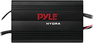 Pyle Hydra Marine Amplifier - Upgraded Elite Series 800 Watt 4 Channel Micro Amplifier - Waterproof, GAIN Level Controls, RCA Stereo Input, 3.5mm Jack, MP3 & Volume Control (PLMRMP3B)