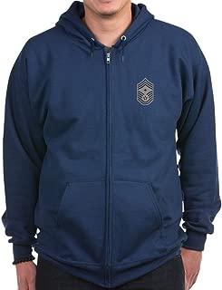 USAF: Cmsgt E-9 (ABU) - Zip Hoodie, Classic Hooded Sweatshirt with Metal Zipper