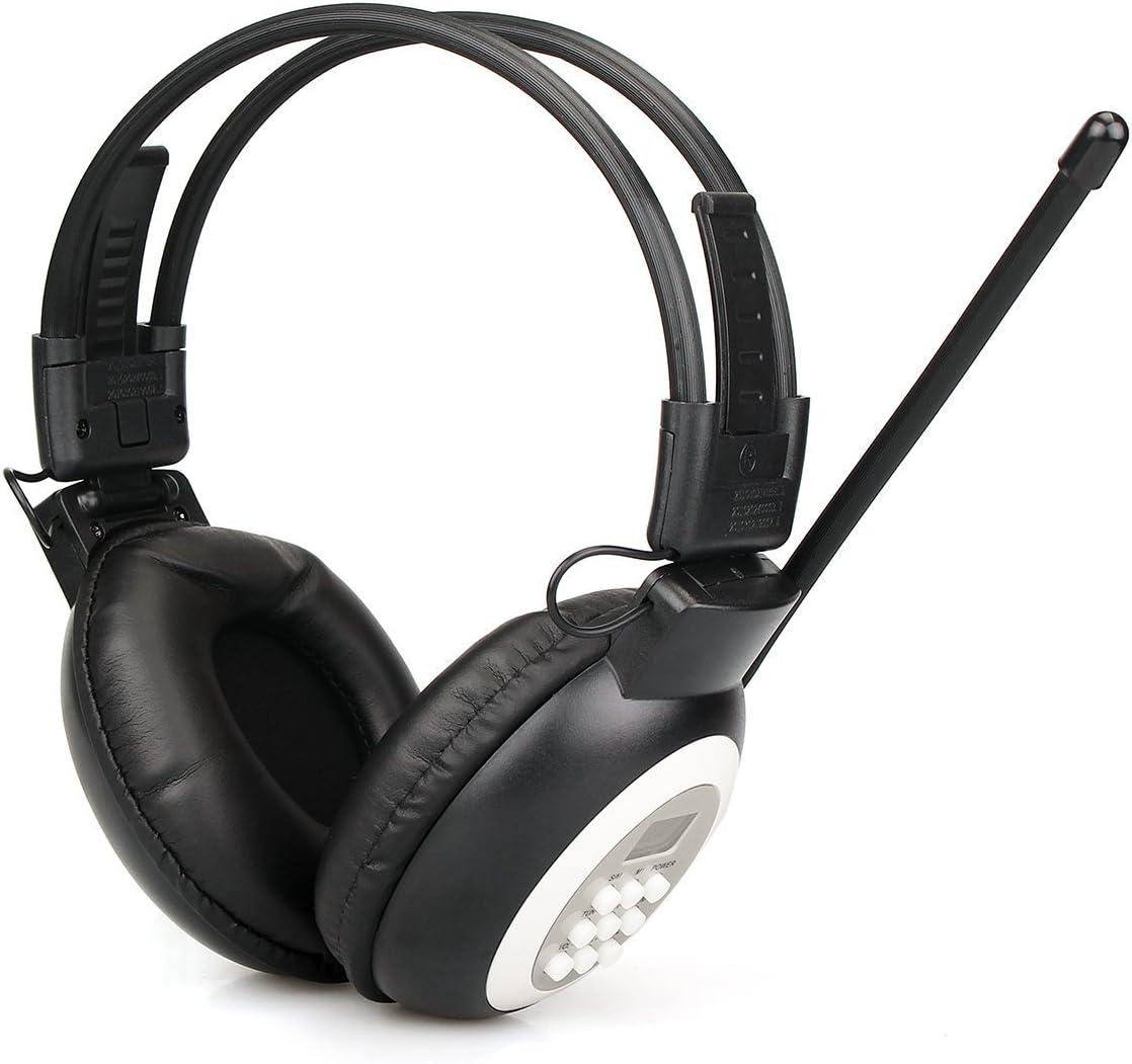 Retekess TR101 FM Radio Stereo, Portable Personal FM Radio Earmuffs, Digital FM Radio for Mowing, Walking, Riding, Powered by AA Battery (Black): Electronics