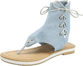 MITCOWBOYS Sandals for Women Wide Width Gladiator Sandals Ladies Leopard Zebra Snake Pattern Flat Sandals