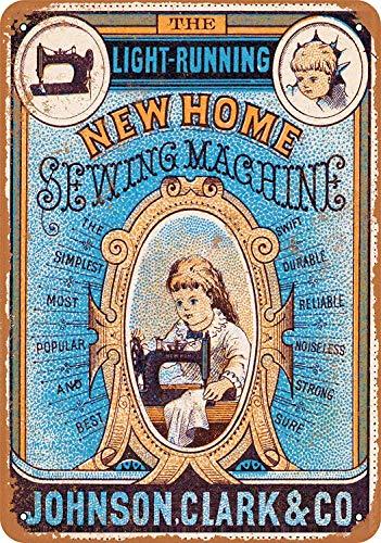 Johnson Clark naaimachines nostalgische kunst mooie traditionele tin teken metaal geschilderd moderne muur decoratie kunst poster spel kamer huis regels straatteken
